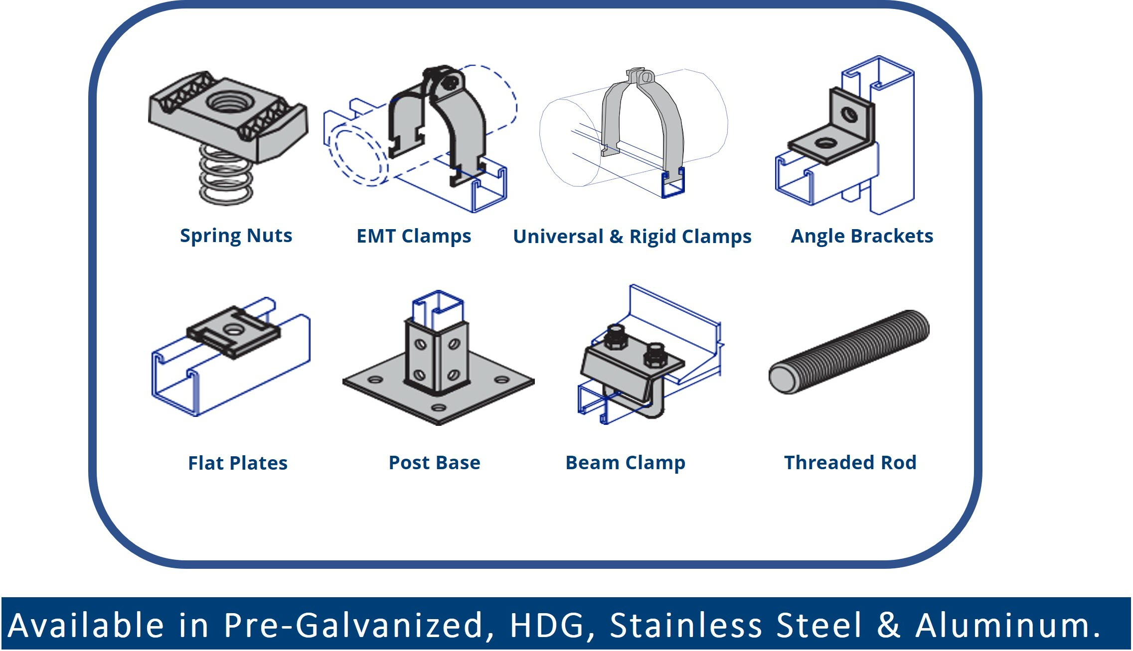 Full Line of Strut Accessories to Complete Any Job Application