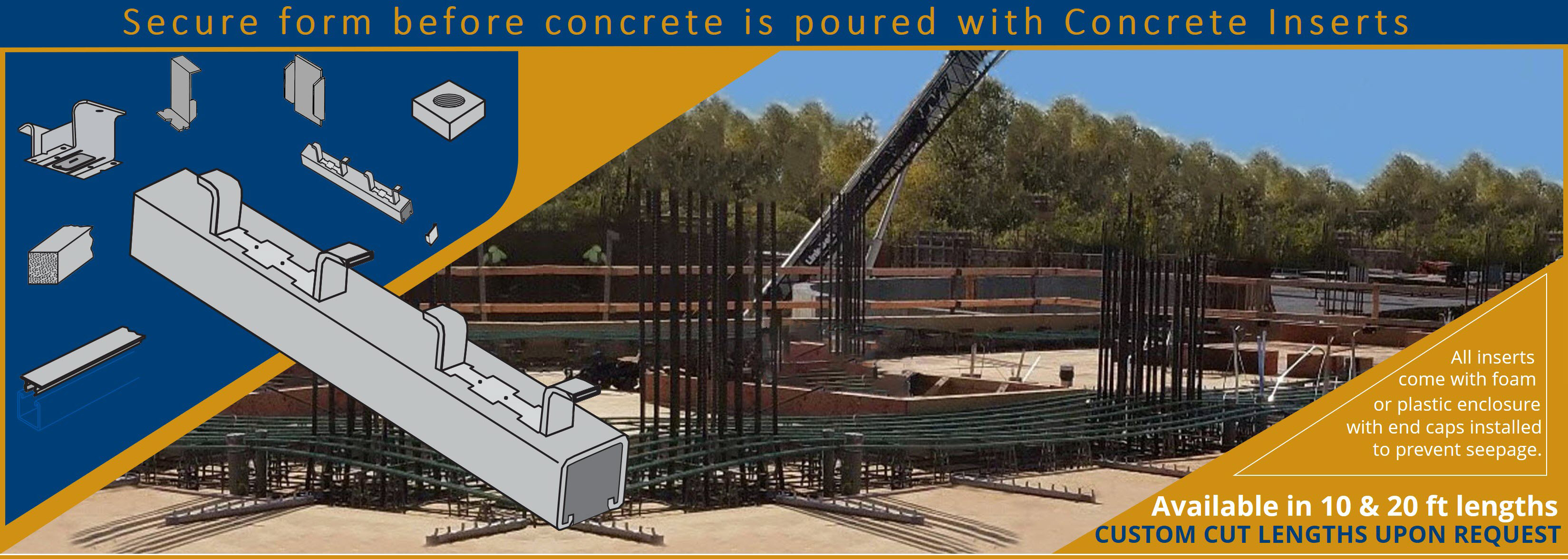 Concrete Inserts Available For Any Job Application