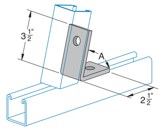 Two Hole, Closed 45°Angle