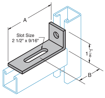 One Hole Slotted 90° Corner Connector