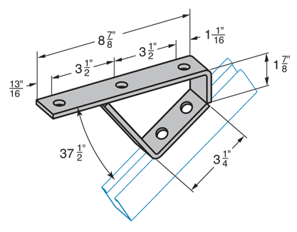 K37-1/2° Stair Support