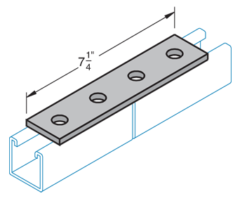 Four Hole Splice Plate