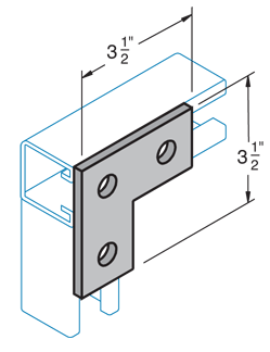 Three Hole Flat Angle Plate