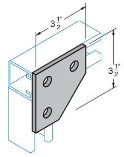 3-Hole Corner Connector