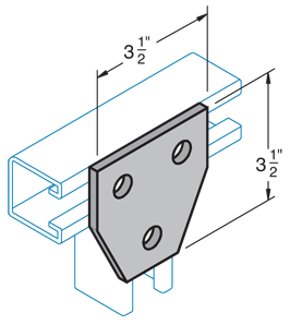 Three Hole Connection Plate