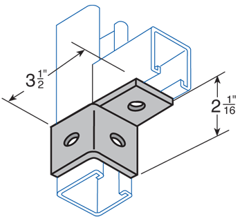 Three Hole Single Angle Connector