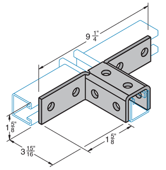 Ten Hole Double Angle Connector