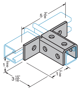 Eight Hole Triple Angle Connector